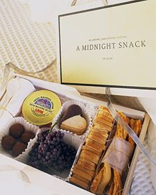 Make pre-packaged midnight snacks in guest rooms for those who are staying after the event
