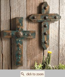 Wooden Crosses with Nails