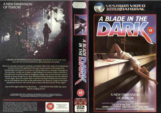 Blade In The Dark Vhs Cover Horror Movies Vhs Movies