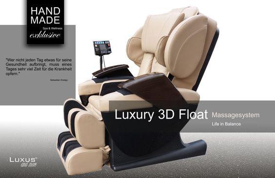 Der Luxury Massagesessel 3D Float bietet ein ganzheitliches Hochgefühl - zu erleben vereint in Übereinstimmung von Gesundheit und Geist in Balance.