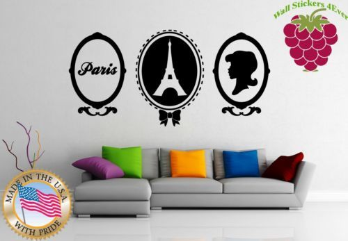 Wall Stickers Vinyl Decal Travel Europe France In Love With Paris ig941