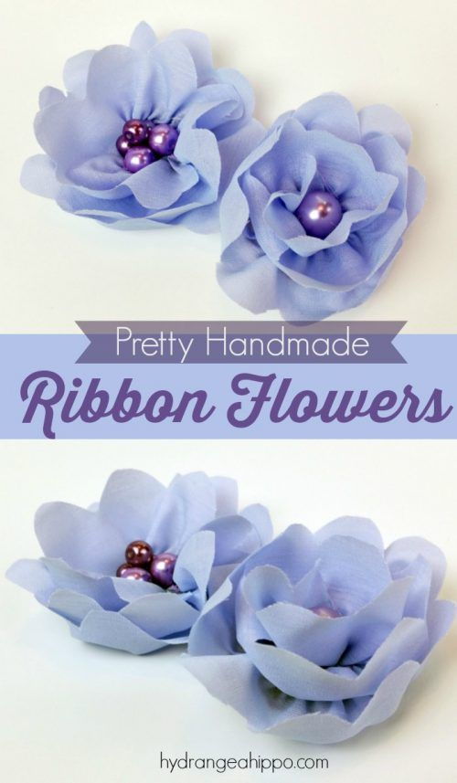 Top 15 Easy Ribbon Flowers Making Fabric Flowers Fabric Flower