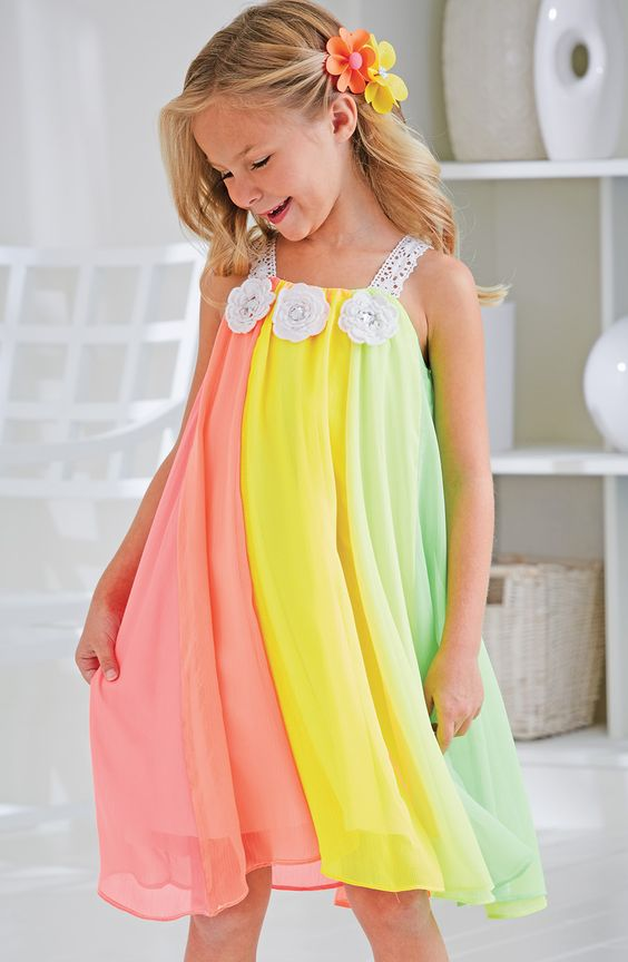 Girls dresses for our wedding!! :-) From CWDkids: Rainbow Chiffon ...