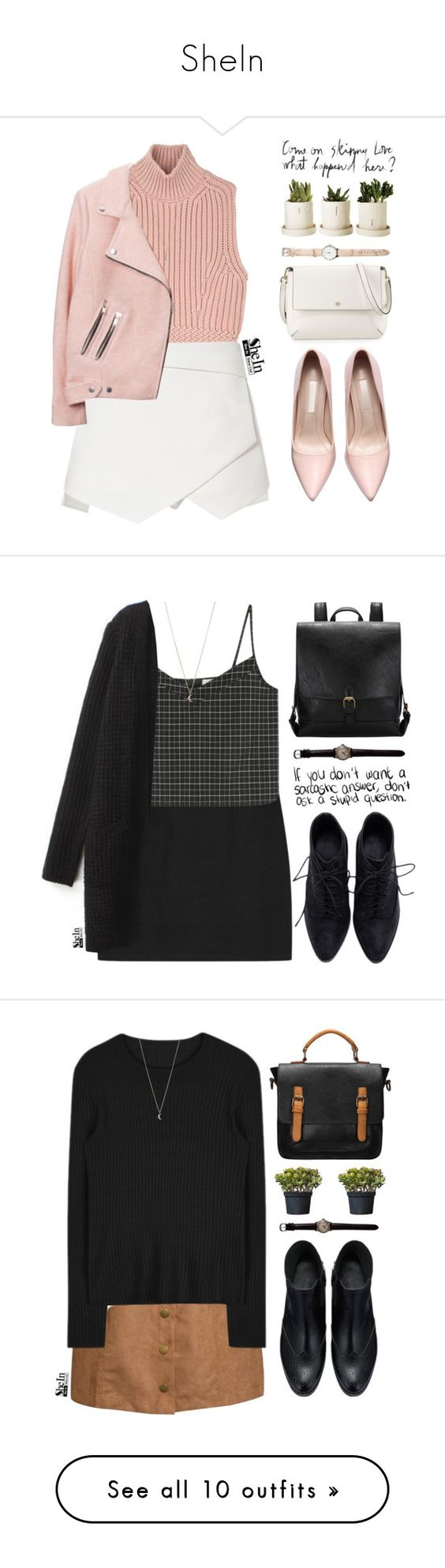 """""""SheIn"""" by mihreta-m ❤ liked on Polyvore featuring Diesel Black Gold, Tory Burch, Minor Obsessions, women's clothing, women, female, woman, misses, juniors and Pilot"""