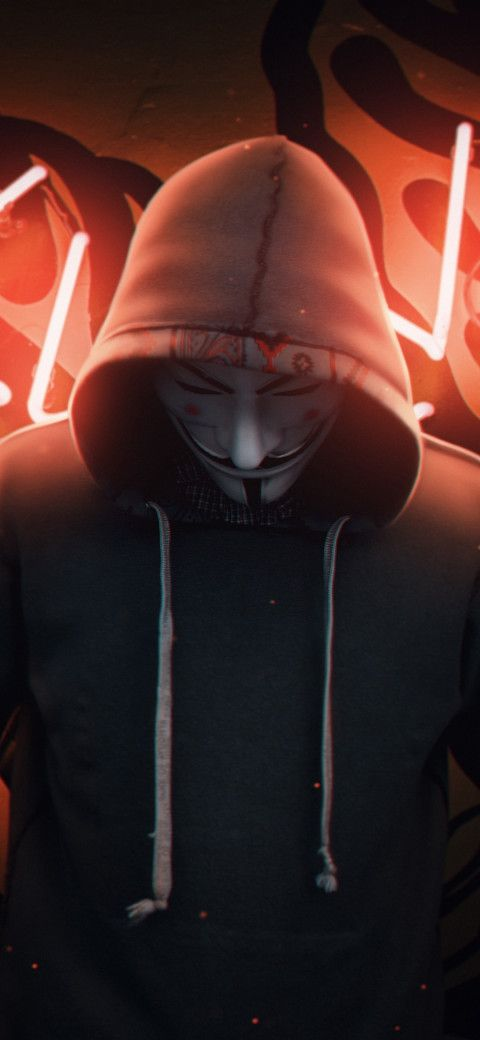 Anonymous Mask Man Wallpaper Hd 58 In 2020 Anonymous Mask Man Wallpaper Joker Iphone Wallpaper