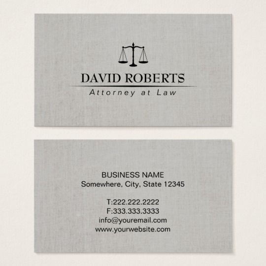 Attorney At Law Elegant Linen Lawyer Business Card Zazzle Com Lawyer Business Card Elegant Business Cards Business Cards