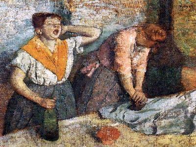Toulouse-Lautrec 1884 Edgar Degas Les Repasseuses #France #Paris @deFharo