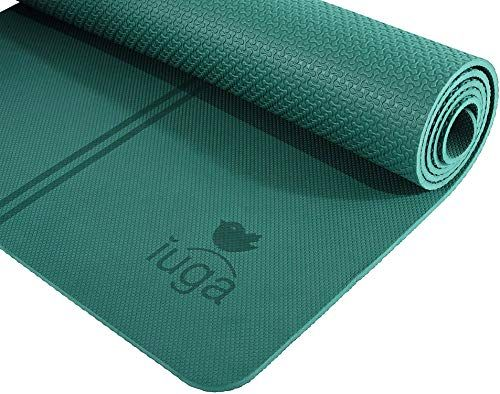 Iuga Exclusive Alignment Positioning Friendly In 2020 Eco Friendly Yoga Mats Mat Exercises Yoga Mat Strap