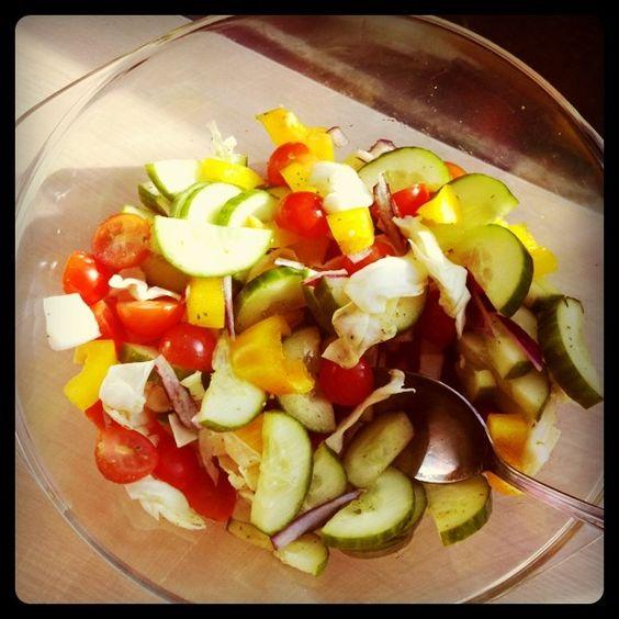 Perfect vegetable salad
