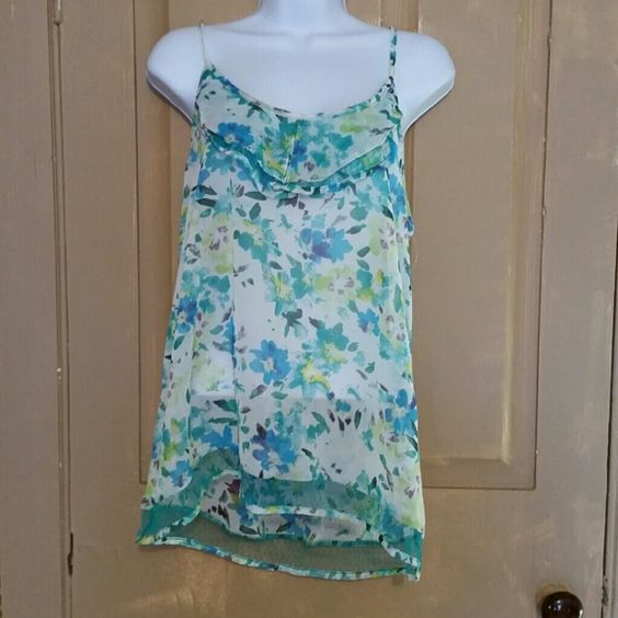 NWT Bongo floral tanktop Size large, never worn. Perfect condition. BONGO Tops Tank Tops
