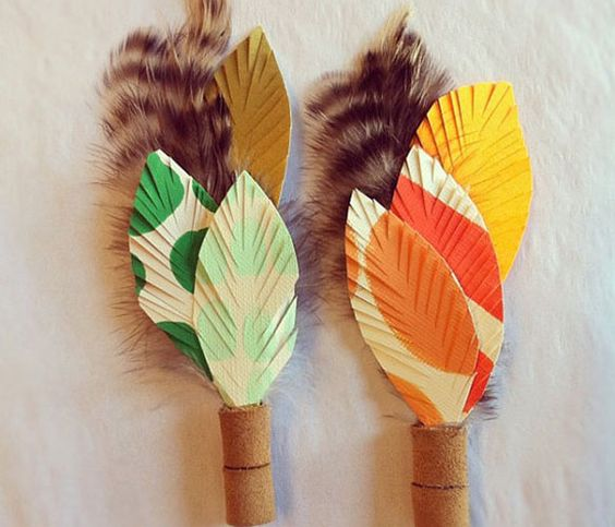 wow these feather boutonnieres are really fun!