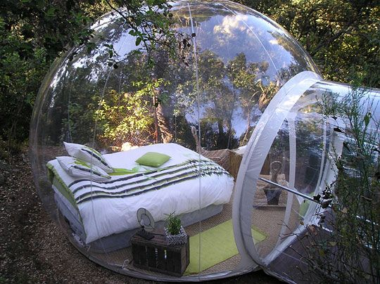 best way to go camping! sleep under the stars without the bugs...