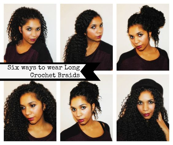 Brilliant Six Ways To Style Long Crochet Braids Big Bad Hair Pinterest Short Hairstyles For Black Women Fulllsitofus