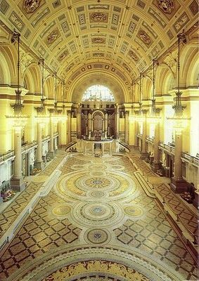 St Georges Hall , Liverpool the original floor is shown on this photo, it's normally covered up.