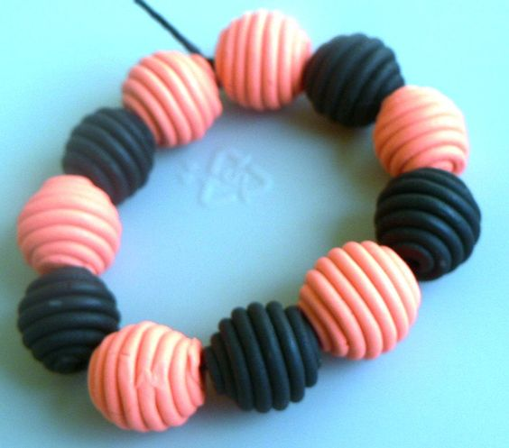 Halloween Polymer Clay Beads. $8.00, via Etsy.