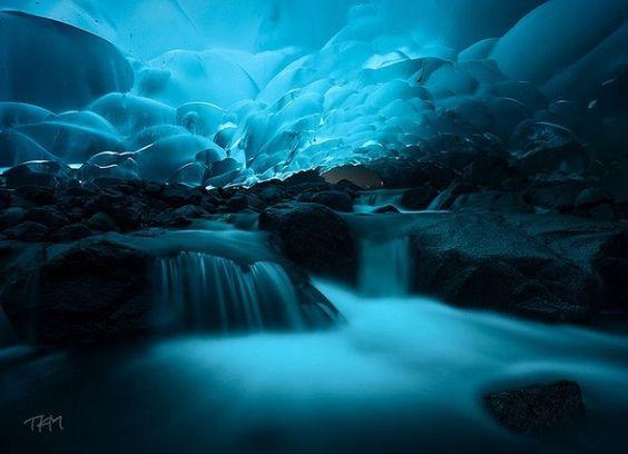 Cuevas de hielo Mendenhall de Juneau
