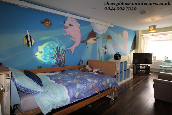 Underwater Interior Design Theme Boys Bedroom Wirral Beach Themed Children 39 S Bedroom