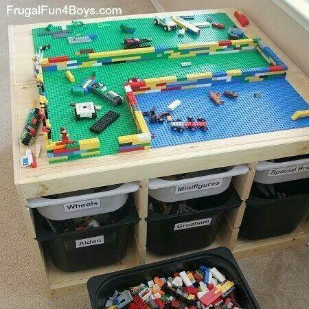 lego tisch kinderzimmer pinterest lego. Black Bedroom Furniture Sets. Home Design Ideas