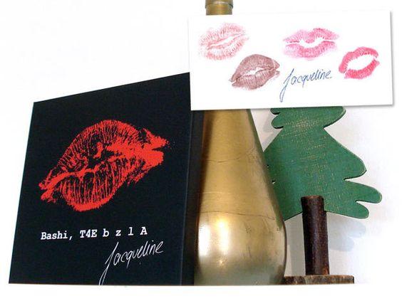 Valentinstagsgeschenke - Liebeserklärung mit Deinem Kußmund und Widmung - ein Designerstück von bg-color bei DaWanda
