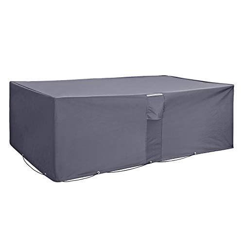 Songmics Abdeckung Fur Gartenmobel Set Schutzhulle Abdeckhaube Fur Tisch Und Stuhle Wasserfest Und Farbecht Gartenmobel Aussenmobel Tisch Und Stuhle