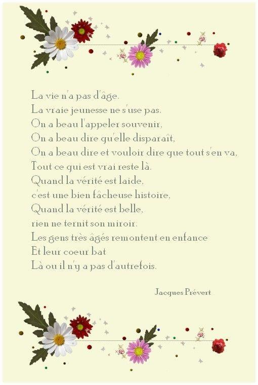La Vie Na Pas Dâge Jacques Prévert Poeme Francais
