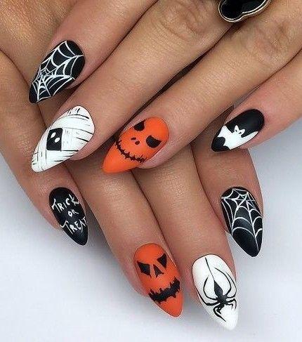 Unghie Halloween Tante Idee Per Unghie Da Paura Horror Nails Halloween Nails Easy Halloween Nail Art