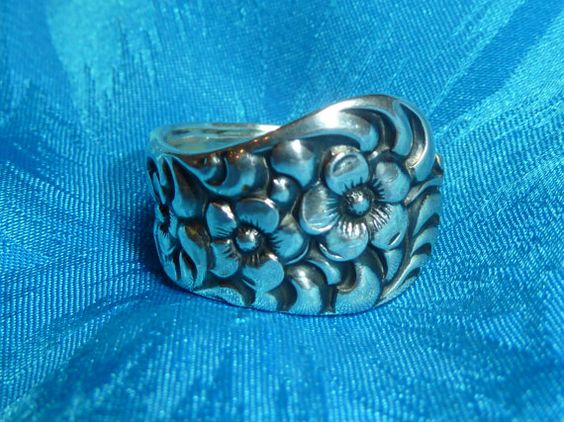 """1888 """"Rococo"""" Dominick & Haff  Sterling Silver Spoon Ring on Etsy, $78.00"""