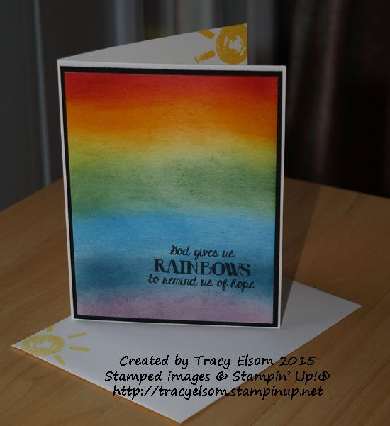 Simple sponging and Over The Rainbow stamp set from Stampin' Up!  http://tracyelsom.stampinup.net