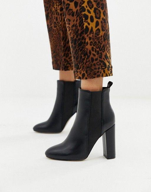 Simmi London Heidi black block heeled