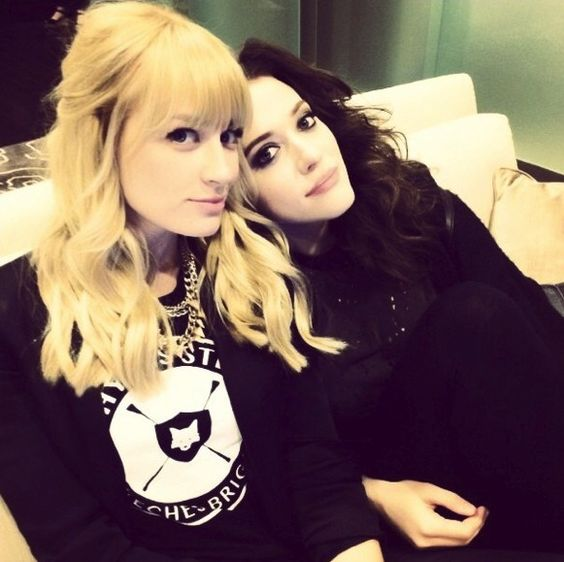 Beth Behrs and Kat Dennings bond on and off set.