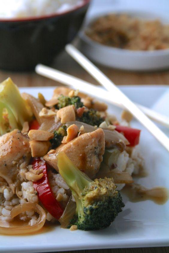 Oregon Transplant: Broccoli and Red Pepper Chicken Stir-fry