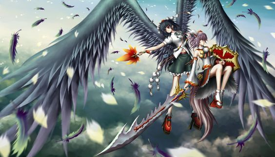 Didn't think Momiji the wolf tengu could fly.