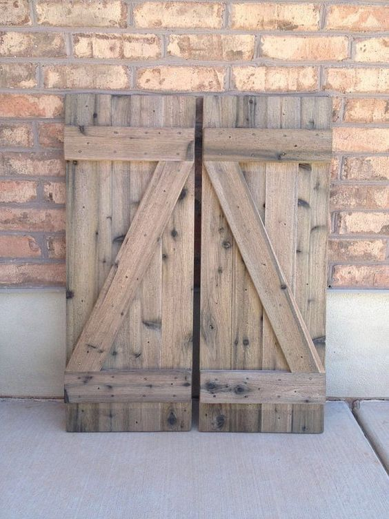 2 barnwood shutters 14quot x 37quot 28quot wide combined shutters for Barnwood shutters