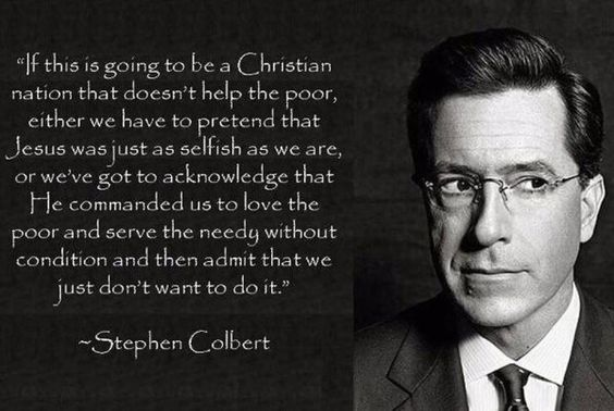 colbert laying it down.