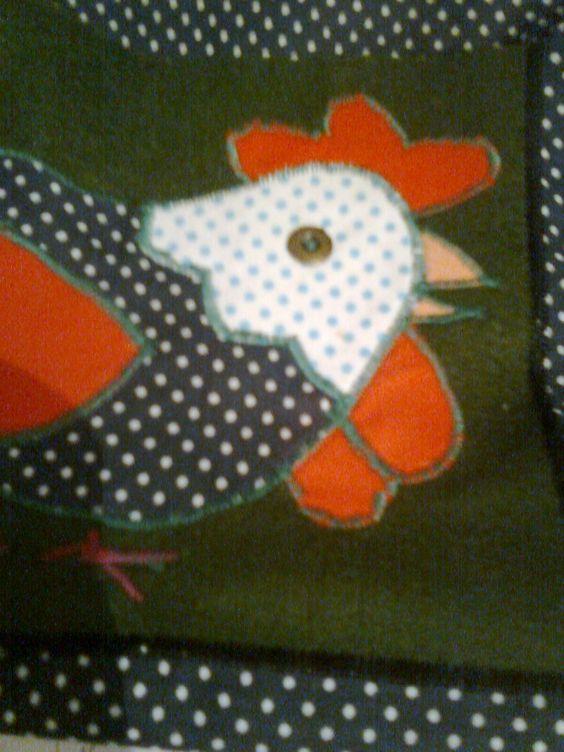 Detalhe de uma sacola que fiz para ir à feira