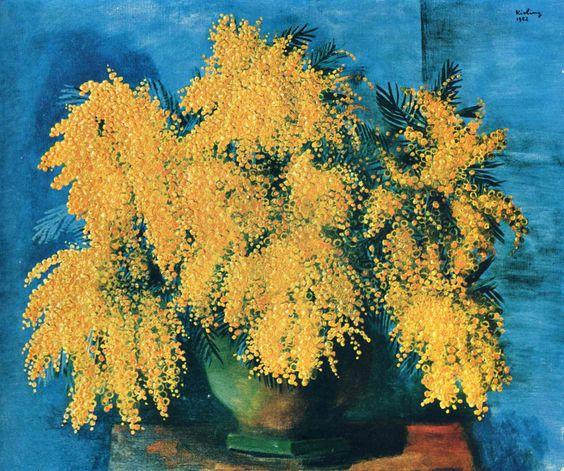 "goodreadss: ""Moïse Kisling 1891-1953 (Polish, French) | Mimosas "":"