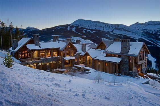 Yellowstone Club, Big Sky, MT  Builder: Schlauch Bottcher Construction  Interior Design: Locati Interiors  #Log Cabin