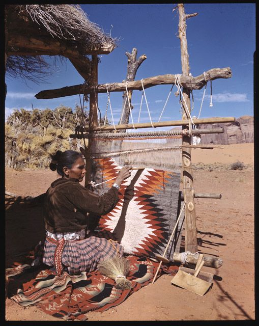 This brings back some memories - a Navajo woman taught a class of us in high school how to weave blankets because