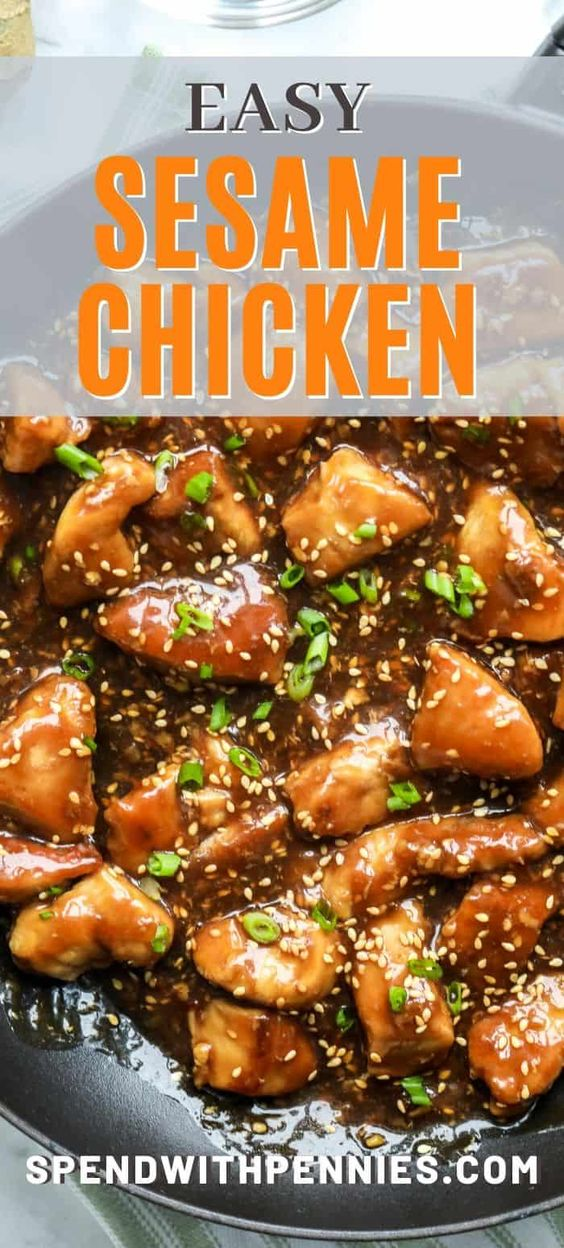 Sesame Chicken is an Asian inspired recipe that is easy to make and tastes even better than take out