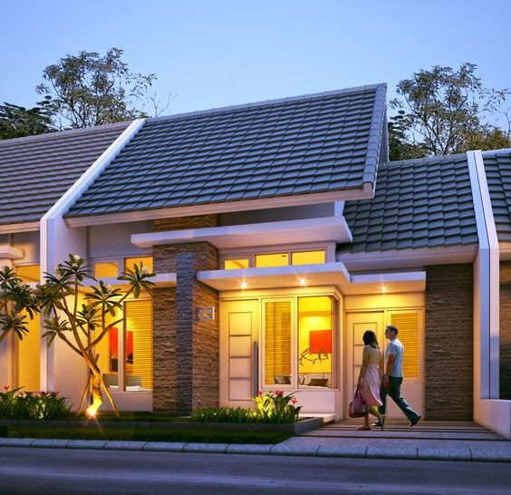 rumah minimalis type 45 1 lantai desain fasad rumah