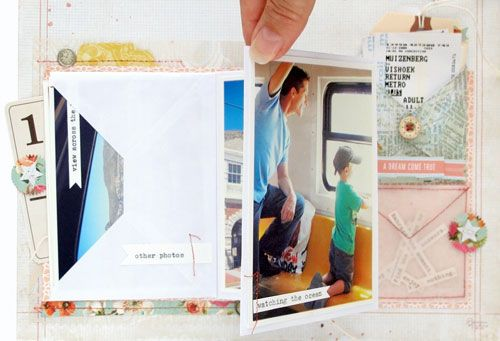 Step-by-step tutorial on how to make an envelope mini album you can add to a scrapbook page.    #scrapbook #scrapbooking #creatingkeepsakes