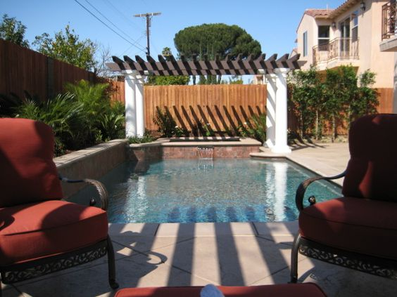Backyard With Pool Remodel :   Pinterest  Small Backyard Pools, Backyard Pools and Pool Remodel