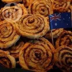 Recipe photo: Australia Day Vegemite pinwheels
