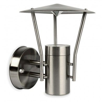 50W Stainless Steel Modern Uplight Lantern Garden Outdoor Wall Light