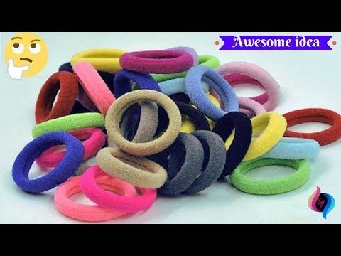 Best Out Of Waste From Hair Rubber Bands Crafts Idea For Home Decor How To Reuse Hair Rubber Bands Rubber Band Crafts Hair Rubber Bands How To Make A Pom Pom