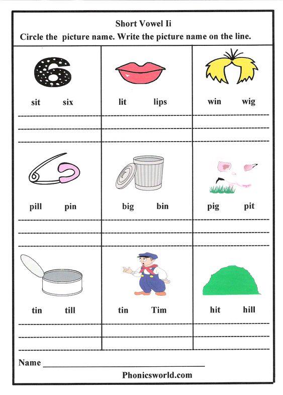 Number Names Worksheets short i sound worksheets : Pinterest • The world's catalog of ideas