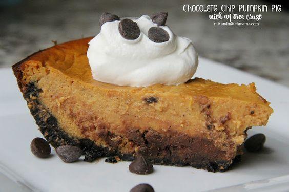 ... pumpkin pies pumpkins oreo crusts chips oreo crust pies chocolate
