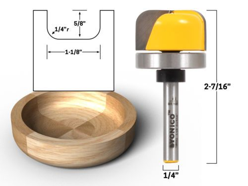 Router Bits 177001 1 1 8 Diameter Bowl And Tray Router Bit 1 4 Shank Yonico 14959q Buy It Now Only 11 95 On Ebay Router Bits Cnc Router Bits Router