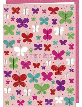 "Carte Double ""Butterfly Kisses"""