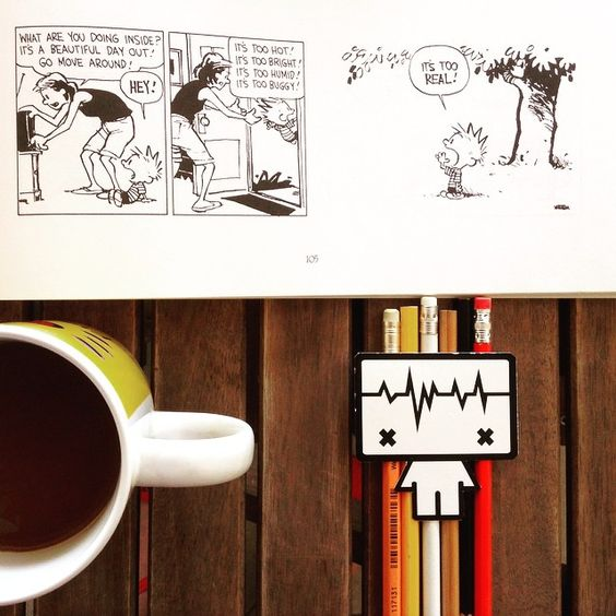 It's a beautiful day out! Sweet morning everyone :) #morningswithcalvin #calvinandhobbes #comics #morning